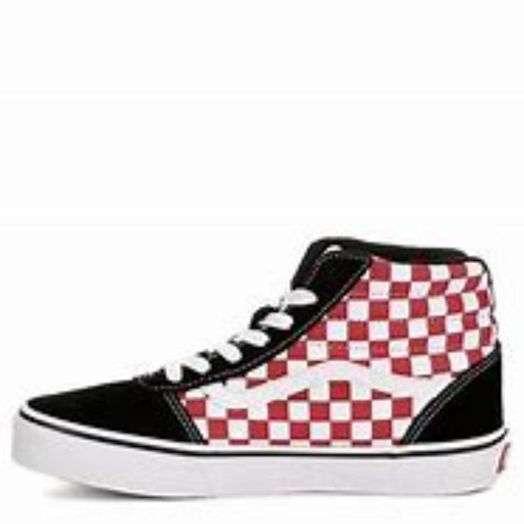 Vans Shoes   Red Checkered Vans High